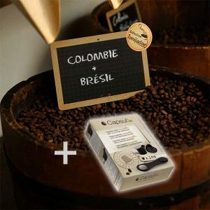 Pack café Amérique du Sud + 100 capsules vides Nespresso